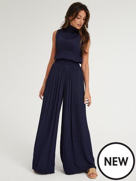 michelle-keegan-plisse-wide-leg-trousers-navy