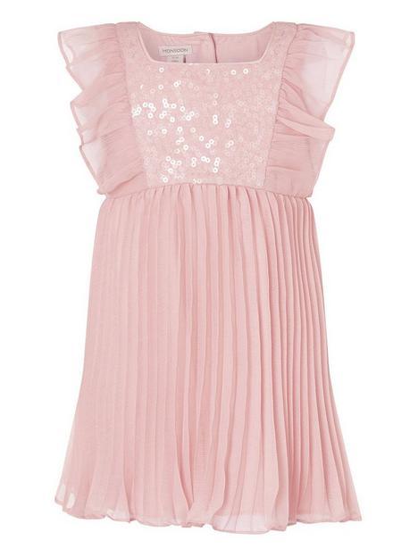 monsoon-baby-girls-sequin-frill-sleeve-dress-pink