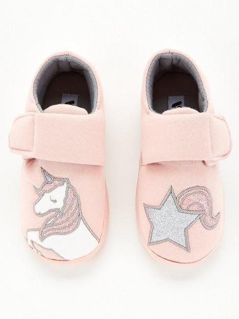 v-by-very-youngernbspgirls-unicorn-strapnbspslippers-pink