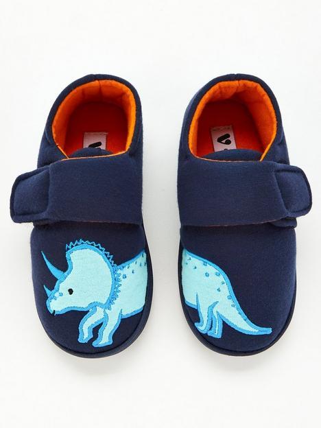 v-by-very-younger-boys-dinosaur-strap-slippers-navy