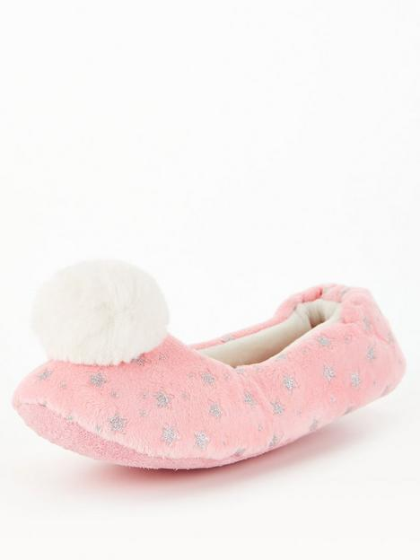 v-by-very-oldernbspgirls-pom-slippers-pink