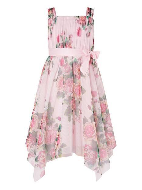 monsoon-girls-rose-print-tulle-hanky-hem-dress-pink