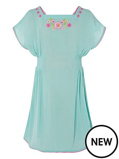 monsoon-girls-sew-embroidered-kaftan-dress-turquoise