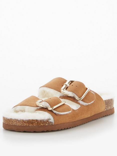 v-by-very-faux-fur-footbed-slipper-chestnut