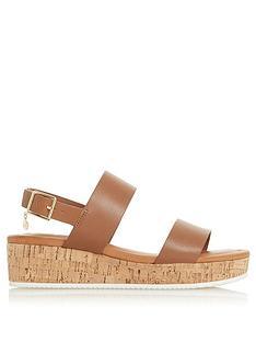 dune-london-lenniie-wedge-sandal-tan