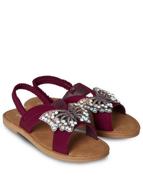 joe-browns-all-in-a-flutter-sandals-burgundynbsp