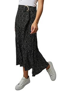 joe-browns-dotty-tiered-skirt-black