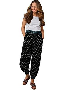 joe-browns-crinkle-cuffed-trousers-black