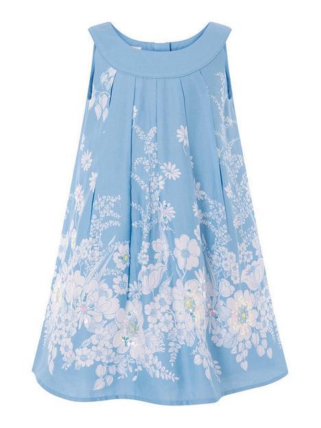 monsoon-girls-floral-embellished-swing-dress-blue