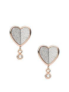 fossil-vintage-glitz-heart-earrings