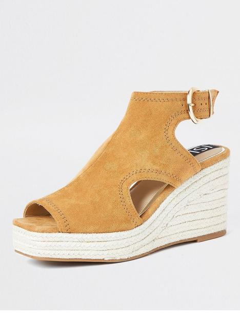 river-island-cut-out-wedge-brown