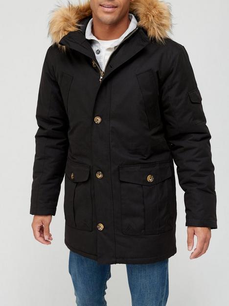 very-man-heritage-faux-fur-hooded-parka-black