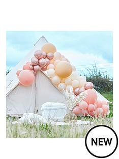 ginger-ray-large-balloon-arch-rose-gold-chrome-nude