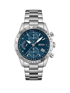 boss-boss-pilot-edition-chrono-blue-dial-stainless-steel-bracelet-gents-watch