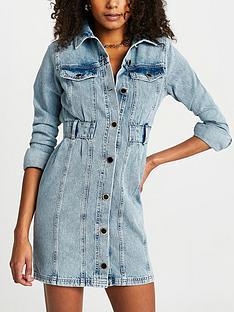 river-island-long-sleeve-denim-shirt-dress-mid-blue