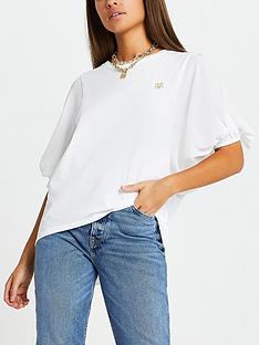 river-island-batwing-balloon-sleeve-top-white