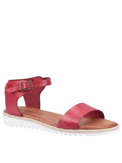 hush-puppies-gina-flat-sandal-red