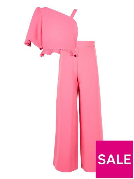 river-island-wanda-one-shoulder-top-amp-trouser-set-pink