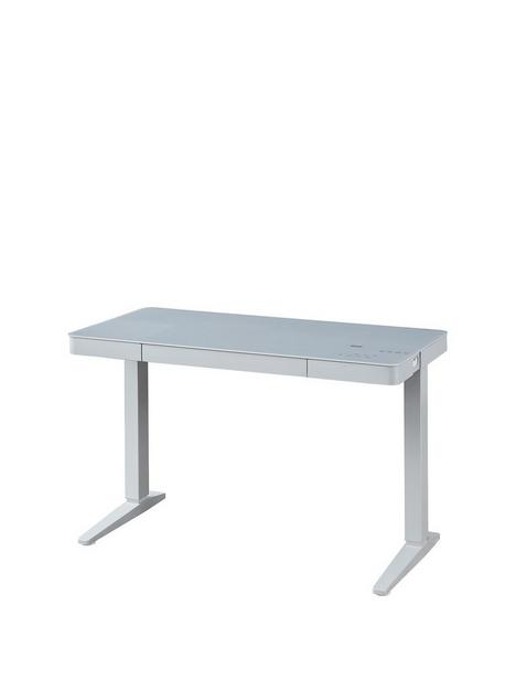koble-lana-20-desk-with-wireless-charging-bluetooth-speakers-and-electric-height-adjustmentnbsp--grey
