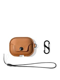 twelve-south-twelve-south-airsnap-pro-leather-protective-casecover-with-loss-prevention-clip-and-optional-carry-strap-for-airpods-pro-cognac