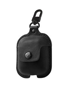 twelve-south-airsnapnbspleather-protective-casecover-with-loss-prevention-clip-for-airpods-amp-wireless-charging-case-for-airpods-black