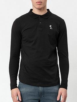 religion-core-classic-jersey-long-sleeve-polo-shirt-black