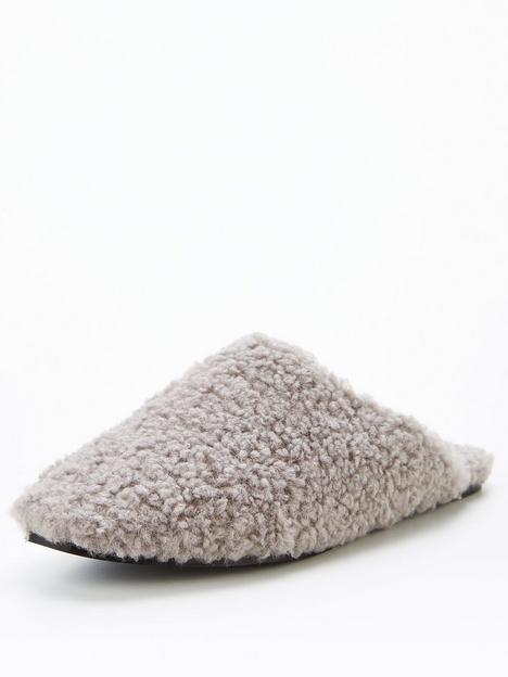 v-by-very-faux-fur-mule-slipper-grey
