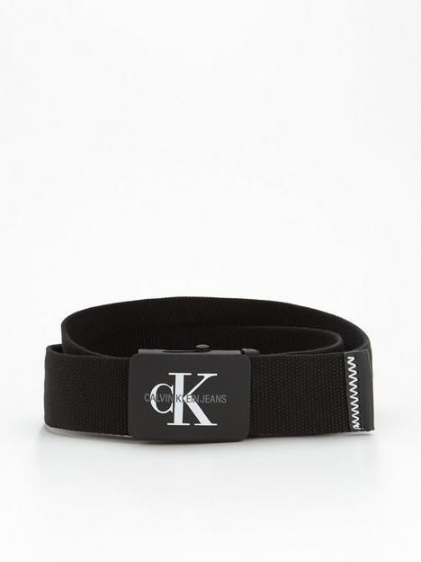 calvin-klein-jeans-ck-jeans-monogram-logo-plaque-canvas-belt-black