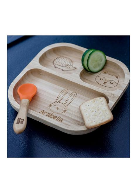 signature-gifts-woodland-bamboo-suction-plate-and-spoon