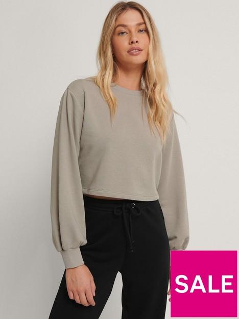 na-kd-volume-sleeve-cropped-sweatshirt-grey