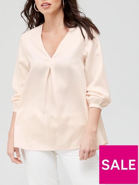 v-by-very-notch-neck-longline-blouse-soft-pink