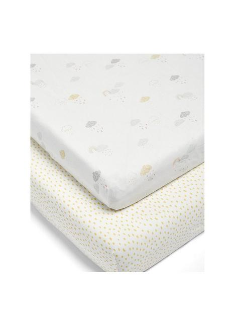 mamas-papas-2-cotbed-fitted-sheets-duac