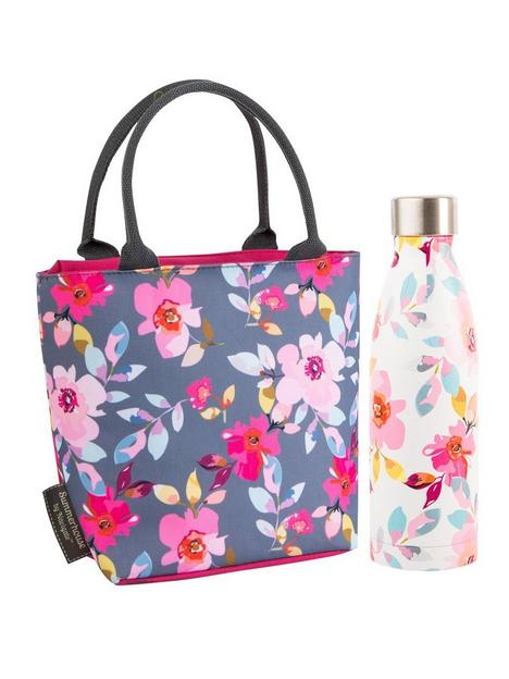 summerhouse-by-navigate-gardenia-insulated-floral-lunch-tote-amp-500ml-insulated-drink-bottle