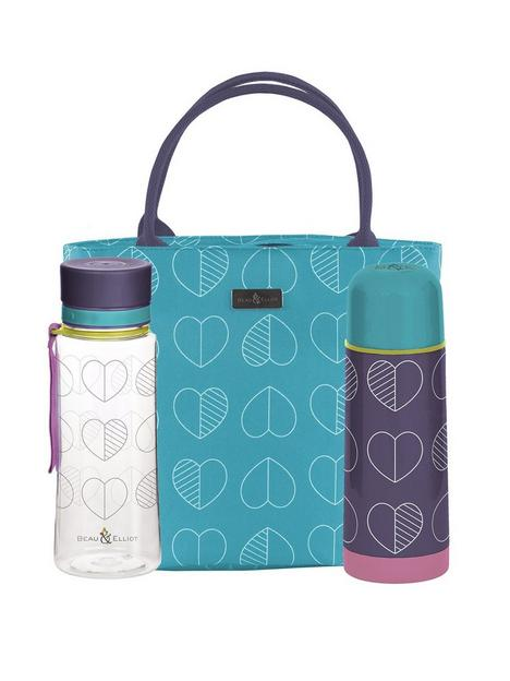 beau-elliot-confetti-outline-teal-insulated-lunch-tote-with-coordinating-flask-amp-hydration-bottle