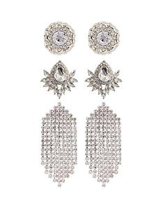 mood-silver-plated-crystal-3pk-stud-and-diamante-drop-earring-pack