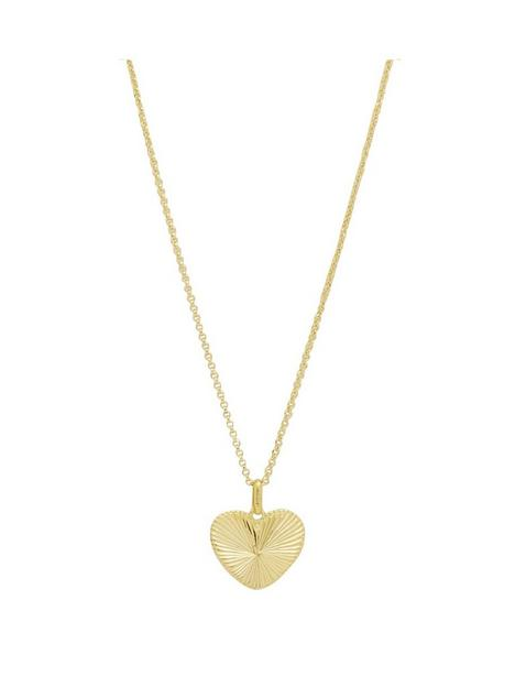 simply-silver-sterling-silver-925-12ct-yellow-gold-diamond-cut-heart-pendant