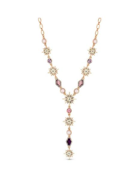 mood-rose-gold-plated-pink-crystal-celestial-y-drop-necklace