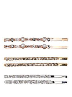 mood-2-tone-plated-6-pack-mini-crystal-and-pearl-hair-slides