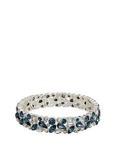 mood-silver-plated-blue-crystal-stretch-bracelet