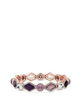 mood-rose-gold-plated-pink-and-purple-crystal-stretch-bracelet