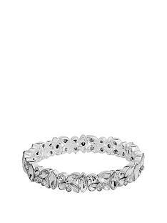 mood-silver-plated-crystal-cluster-stretch-bracelet