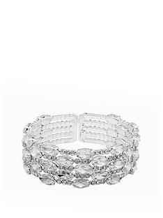 mood-silver-plated-diamante-multi-row-cuff-bracelet