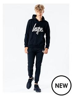 hype-boys-logo-overheadnbsphoodie-and-joggers-set-blackwhite