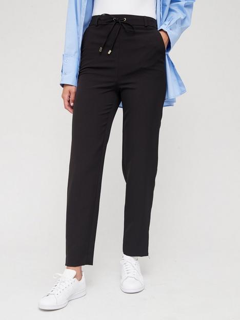 v-by-very-zip-hem-tie-waist-tapered-jogger-black