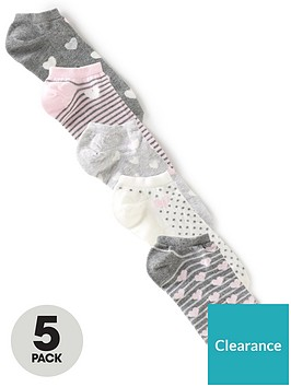 v-by-very-5-pack-heart-print-trainer-liner-grey-pink