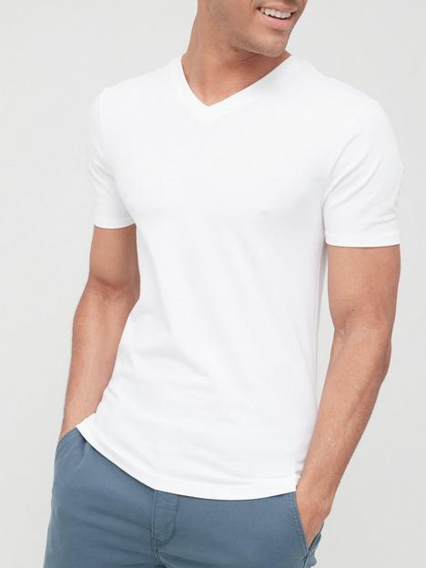river-island-essential-short-sleevenbspv-neck-muscle-t-shirt-white