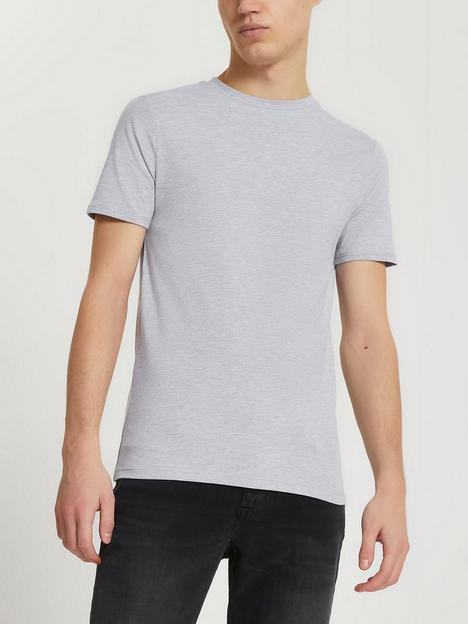 river-island-essential-short-sleeve-muscle-t-shirt-grey