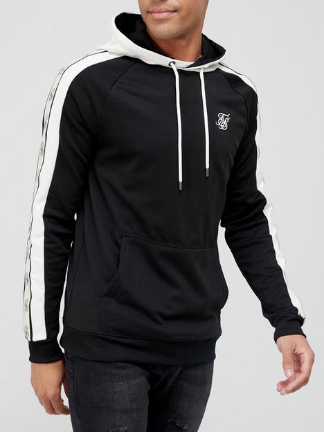 sik-silk-premium-tape-overhead-hoodie-black