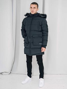 criminal-damage-arcticnbspparka-jacketnbsp--black