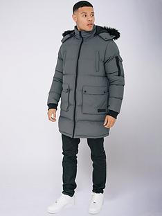 criminal-damage-arcticnbspparka-jacketnbsp--grey
